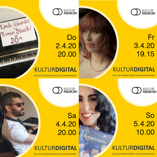 Kulturdigital  - Live-Streams 26. März bis 13. April