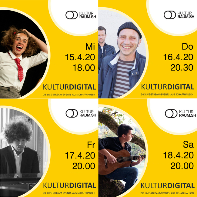 Kulturdigital - Live-Streams 15. bis 30. April